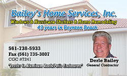 Bailey's Home services - 561-738-5933